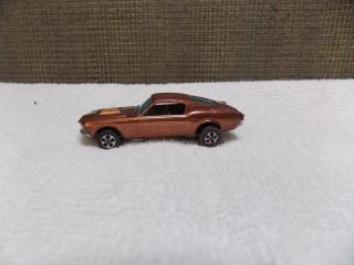 Hot Wheels Custom Mustang Redline Reddish Orange Color HK Nice
