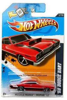 2012 Hot Wheels Muscle Mania Mopar 81 1968 Dodge Dart