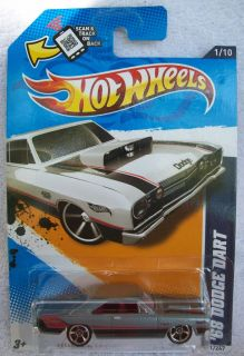 2012 Hot Wheels RARE 68 Dodge Dart Grey Gray 81 247 Wal Mart Exclusive