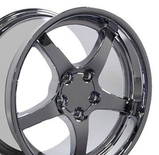 10 5 Chrome C5 Deep Dish Wheels Rims Fit Camaro Corvette