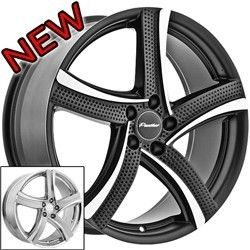 18 inch Panther 914 Black Wheels Rims 5x4 5 Tiburon G35 Eclipse Lancer