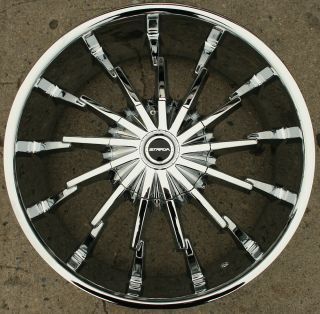 Strada Stiletto 22 Chrome Rims Wheels Cadillac cts STS DTS GM 22 x 8