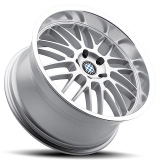 18 Staggered Silver Beyern Mesh Wheels Rims 5x120 BMW 3 Series E90