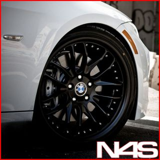 E92 E93 328 335 3 Series MRR GT 7 Black Staggered Rims Wheels