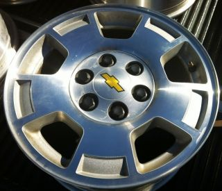 07 10 Chevy Tahoe 1500 Silverado Factory 17 Wheels OEM Rims Avalanche