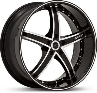22 inch Ruff Racing 953 Black Wheels Rims 5x115 15