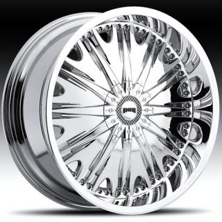 Inzane 5x108 Chrome 5x4 5 One Single 45 Replacement Wheel Rim