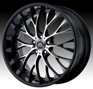 19 inch Black Wheels Rims 5x110 Catera Cobalt HHR Malibu G5 G6