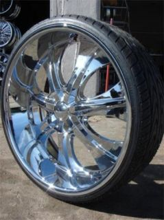24 Wheels Rims Package Free Tires Velocity V750 Chrome Deep Lip 5x115