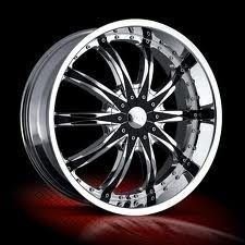 22 inch VCT Abruzzi Chrome Wheels Rims 5x135 15