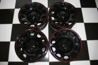 NASCAR Black with Red Ring 1998 16 Wheels Rims 3358 Set of 4