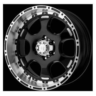 17 Helo 842 Wheel Set XD Rims 17x8 Black Chevy Dodge Toyota 5LUG 8LUG