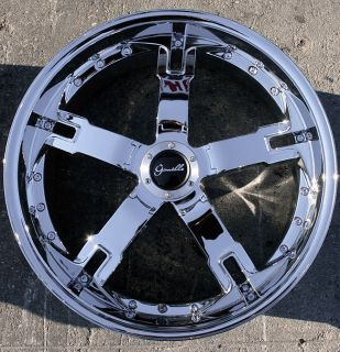 QATAR 20 x 8 5 CHROME RIMS WHEELS 2 Wheels Only NO FULL SET AVAILABLE