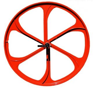26 Bike Mountain Bike Front Wheels Disc Brake Only w Q R Red