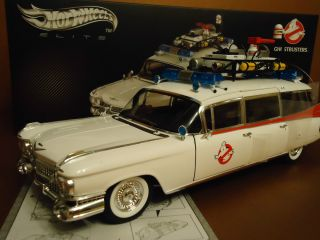 HOT WHEELS ELITE CADILLAC GHOSTBUSTERS ECTO ONE 1 18TH SCALE NEW IN