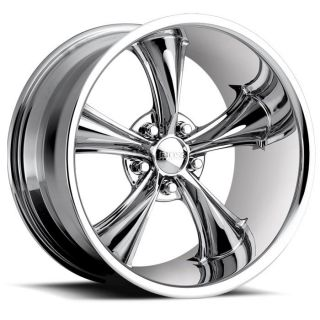17 inch 17x8 Boss 338 Chrome Wheel Rim 5x5 5x127 2
