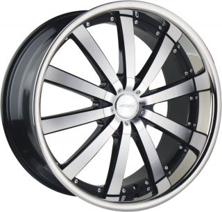 22 Ace Executive Black Stainless Wheels Rims Porsche Cayenne Audi Q7