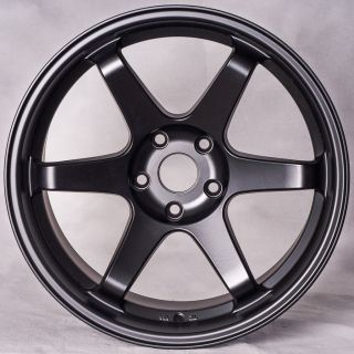 Matte Black Staggered Style Wheels Rims Fit Nissan 350Z 370Z