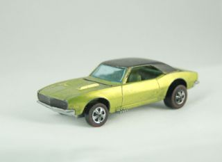 1968 Hot Wheels Redline CUSTOM CAMARO Painted Tail very early Redline