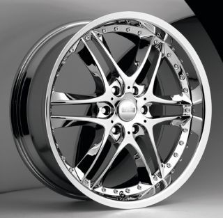 20 inch Akuza Blade Chrome Wheels Rim 6x5 5 6x139 7 20