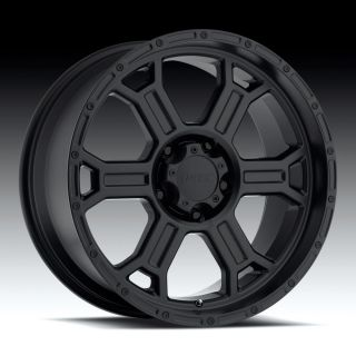 20 inch V Tec Raptor Matte Black Wheels 8x170 12 Ford F250 F350