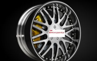 20 3 Piece Wheels Rims 5x4 5 Nissan 350Z 370Z Infiniti G35 Coupe