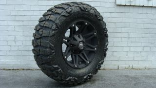 18 Mayhem Riot Black Wheels Nitto Mud 35 Tires Sale