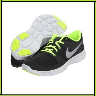 Mens Nike Flex Experience Running Black White Yellow Shoes Free