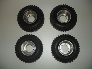 Tamiya Hilux or Blazing Blazer Aluminum Wheels and Tires