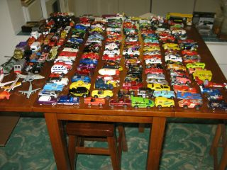 lot of 185+ CARS TRUCKS MORE HOTWHEELS MATCHBOX ERTL CORGI RACING