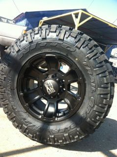 17 Black Rims and Tires 8x170 Ford F250 Excursion 285 70 17 Nitto