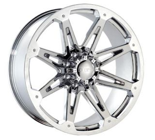 22 Chrome Rims Tires 8x170 Ford 8 Lug F250 Excusrsion