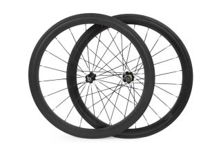 Matte Carbon Fiber Road Racing Bicycle Wheels Bike Wheel Set
