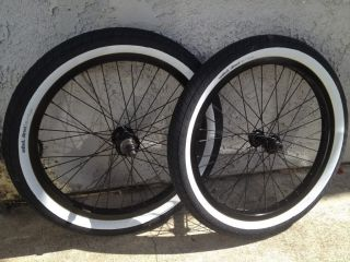 UNITED BIKE WHEEL SET WHEELS BLACK WHITE TIRES REAR FRONT 9 T 36 BACK