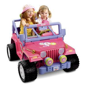 Fisher Price Power Wheels Barbie Jammin Jeep