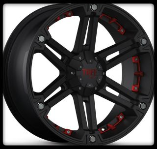 T01 Black Rims w P275 60 20 Toyo Open Country A T Wheels Tires