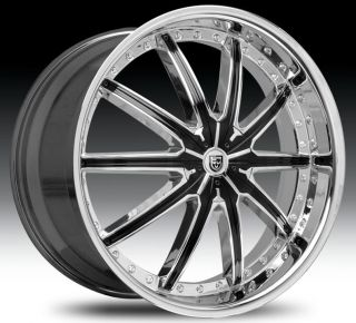 20 Wheel Set Chrome Black Inserts LX20 18x7 5 Rims 5LUG 20inch