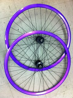 Used Track Wheel Set Velocity Deep V Rim w Profile Racing Hubs