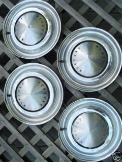 1962 1963 Mercury Hubcaps Wheel Covers Center Caps Rims