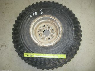 1986 Honda Fourtrax TRX 250 Rear Rim Wheel and Tire Dented
