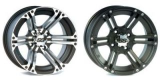 KAWASAKI BRUTE FORCE 650 i 750 i WHEELS 12 ITP SS212 Machined OR BLACK