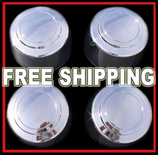 Van 8LUG 16 Chrome Wheel Center Hub Caps Nut Covers Alloy Rim