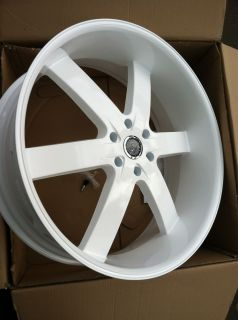 26 Pearl White Rims Tires Avalanche Yukon Denali GMC Escalade Chevy