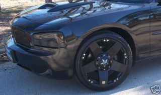22 inch Black Rockstars 300 C Charger Wheels Rims Tire