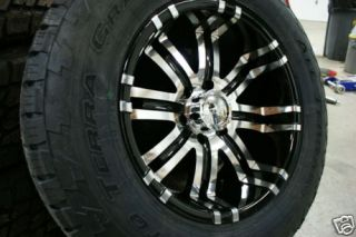 295 70 18 Toyota Tundra 5x150 Black Wheels Nitto Terra