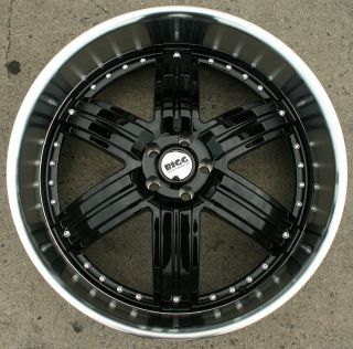 Bigg Daddy 416 22 Black Rims Wheels Chrysler 300 300C V6 V8 22 x 9 5