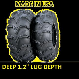 Two 2 25x12 12 XL American Made ITP Mud Lite ATV Tires New Deep 1 2