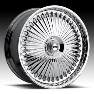 Bellagio Wheel Set 22x9 5 Chrome Rims for rwd 5 6 Lug Vehicles