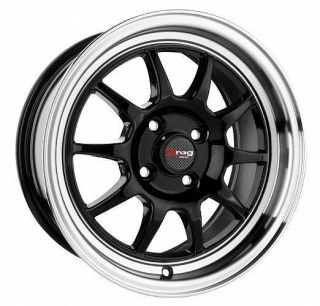 15 4x100 DR16 Black Wheel Rim Acura Integra CRX Daewoo