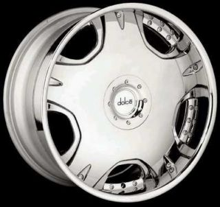 20 Dolce Wheel Tires DC12 Chrome Rims 20 5 6 Lug